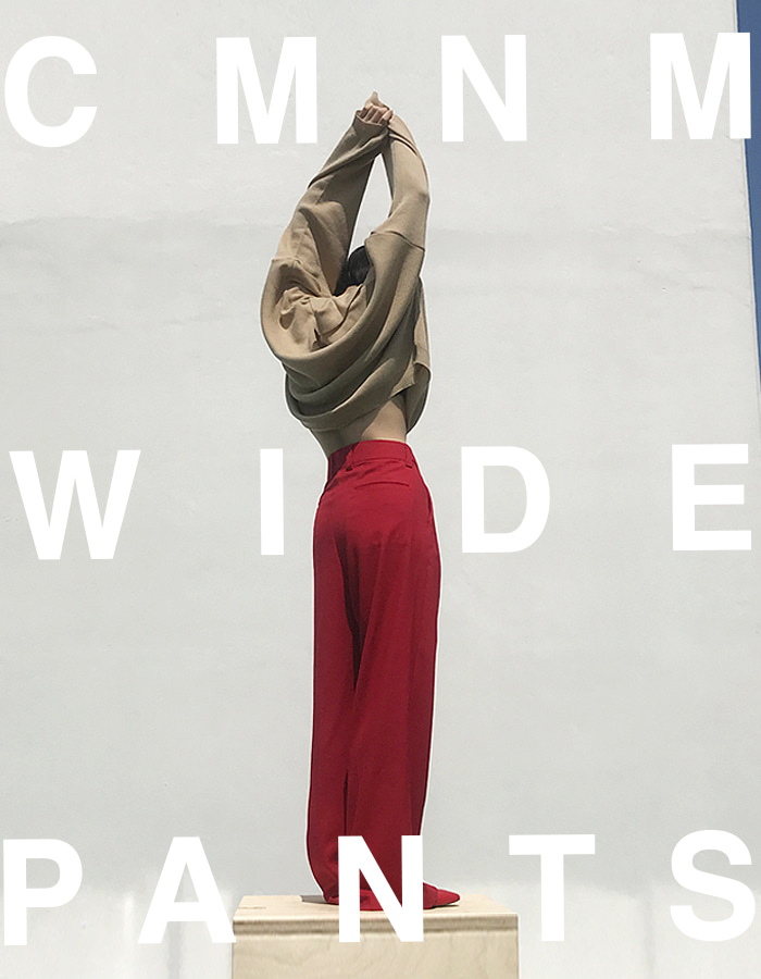 [CMNM COLLECTION] MM WIDE PANTS (RED)