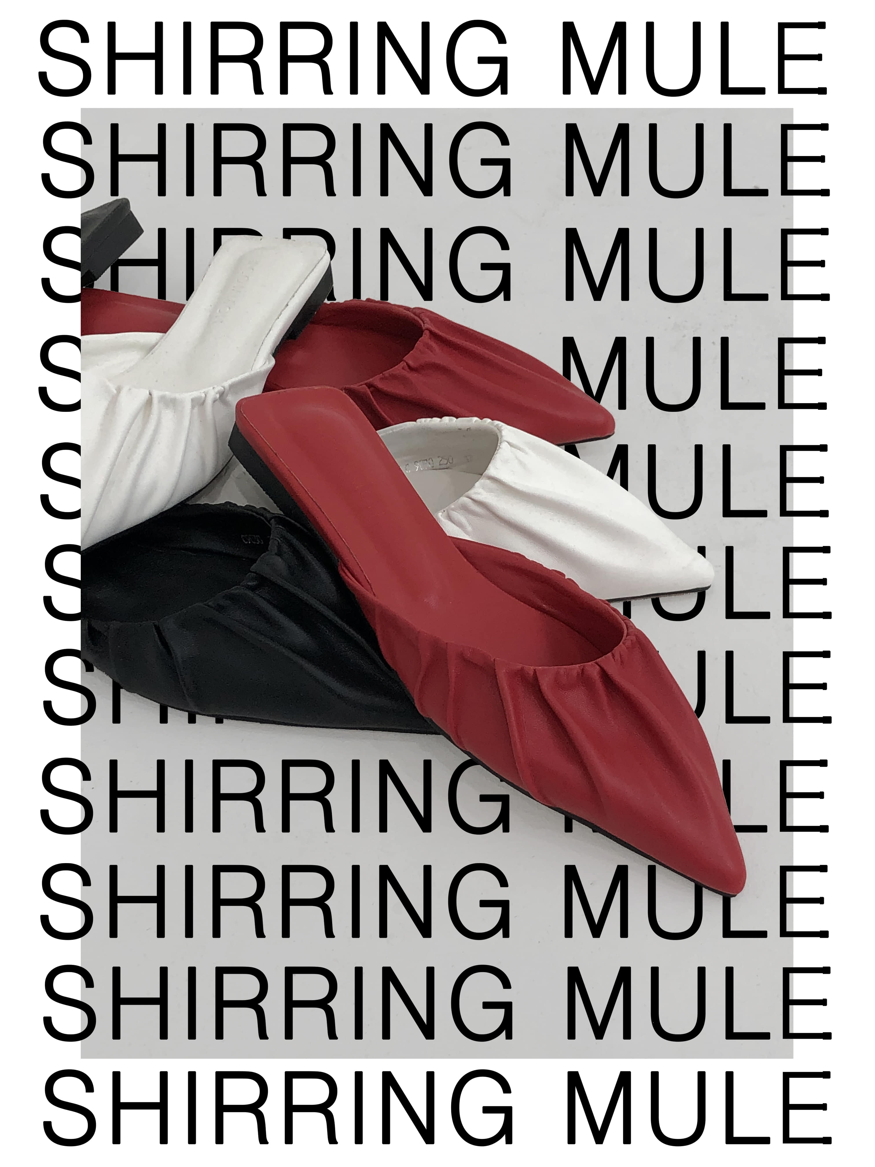 SHIRRING MULE (3 COLOR)