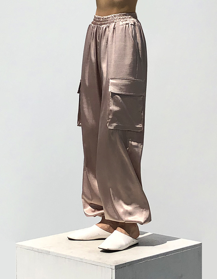SATIN JOGGAR PANTS (2 COLOR)