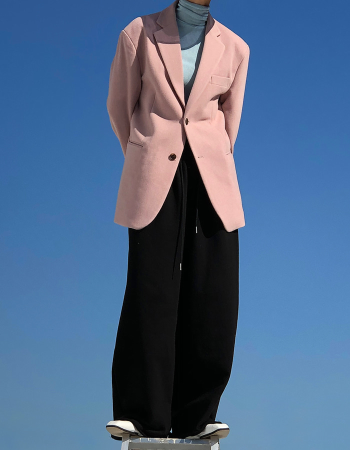 WOOL MAXIMAL SILHOUETTE JACKET (3 COLOR)