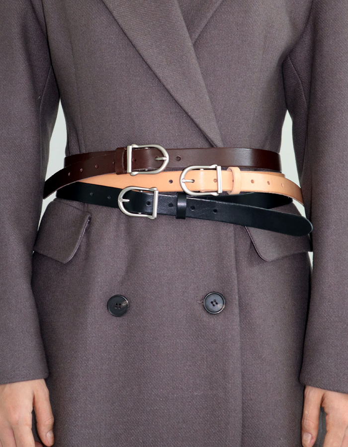 D BUCKLE BELT (3 COLOR)