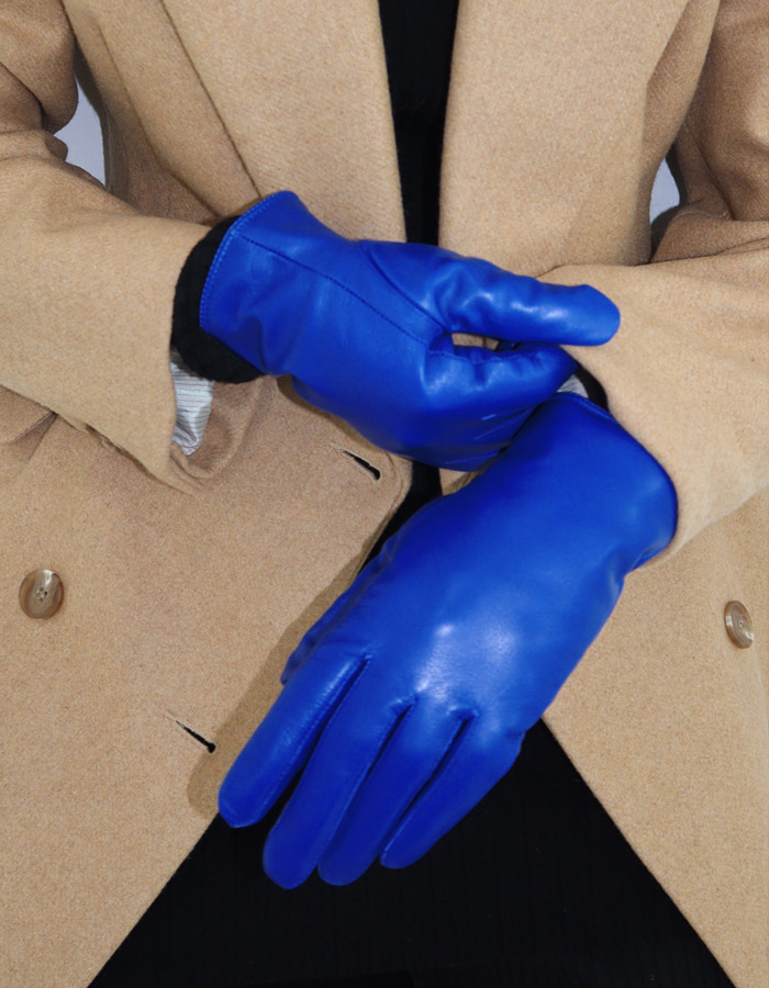 SHORT LEATHER GLOVES (3 COLOR)