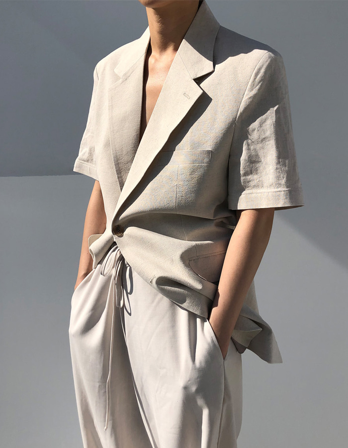 UNISEX LINEN JACKET (2 COLOR)