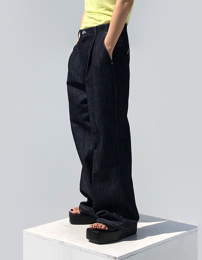 UNISEX LINEN STITCH PANTS (2 COLOR)