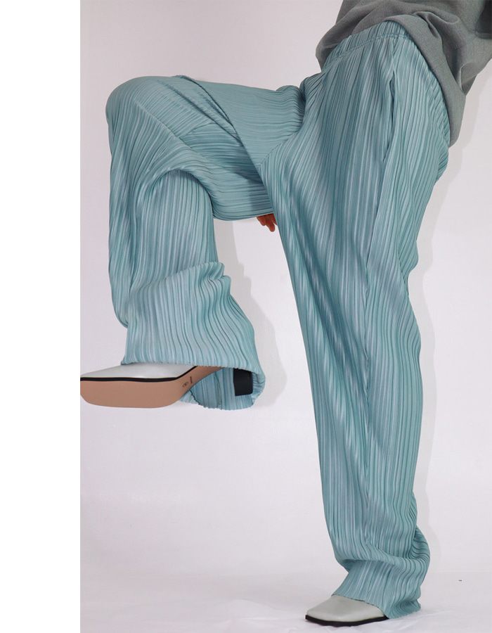 UNISEX MAXI PLEATS PANTS (3 COLOR)