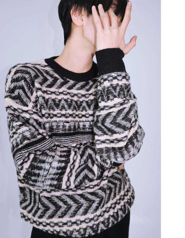 UNISEX ETHNIC PATTERN KNIT (3 COLOR)