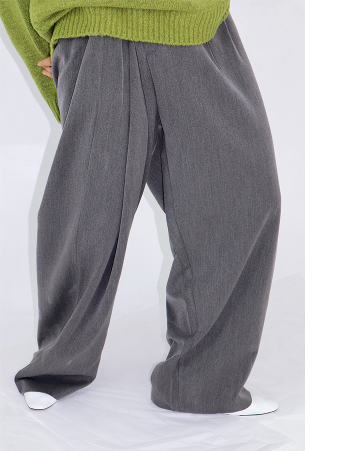 WIDE WRAP SLACKS  (2 COLOR)