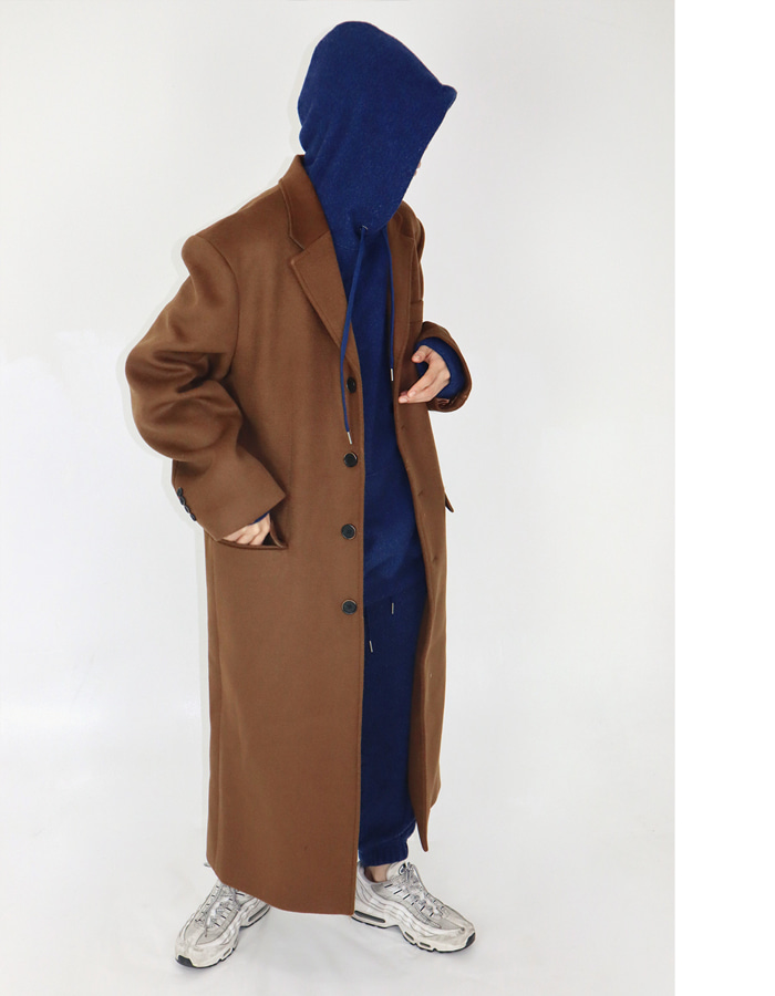 UNISEX SINGLE MAXI COAT (4 COLOR)