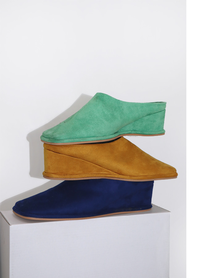 Suede wedge mule (3 color)