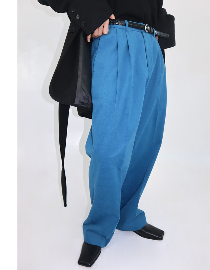 Unisex peach skin wide pants (3 color)