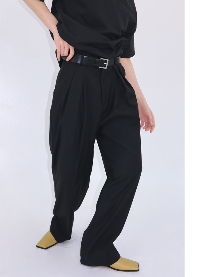 Unisex volume tuck slacks (2 color)