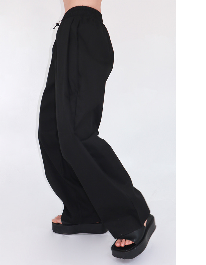 Unisex banding pin tuck cotton pants (2 color)