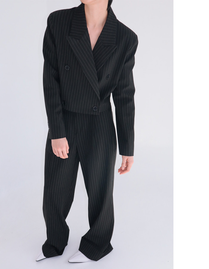 Pin Stripe Suit Set Up