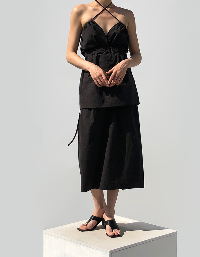 2 WAY STRAP DRESS (BLACK)
