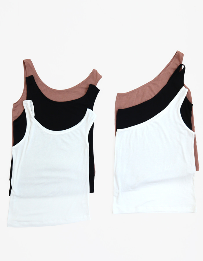 LAYERED SLEEVELEES TOP (3 COLOR)