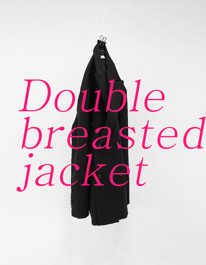 UNISEX DOUBLE BREASTED JACKET (2 COLOR)