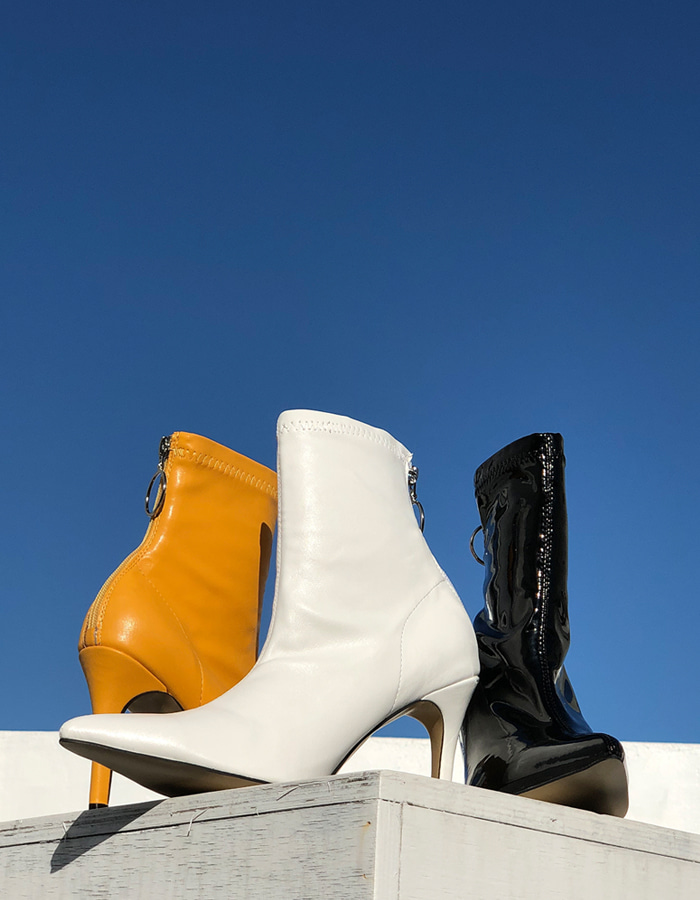SPAN ANKLE BOOTS (3 COLOR)