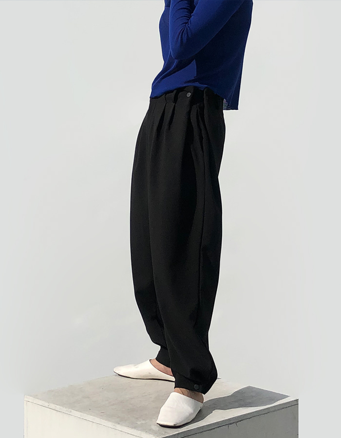 UNISEX SNAP BUTTON SLACKS (2 COLOR)