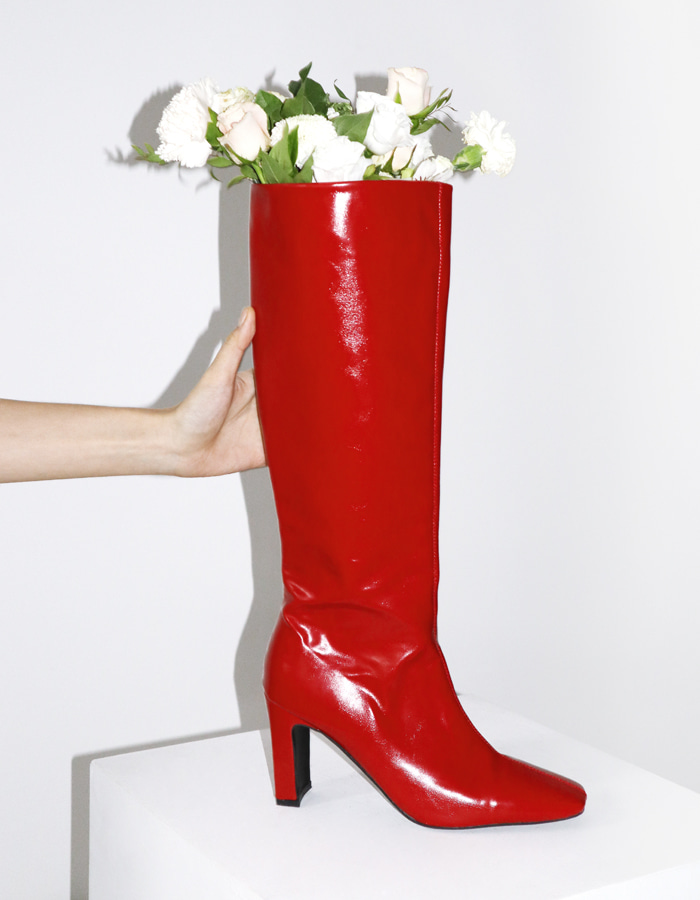 GLOSSY LONG BOOTS (2 COLOR)