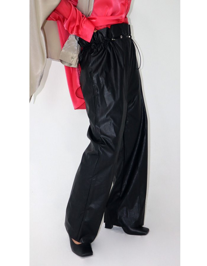 LEATHER STRING PANTS (2 COLOR)