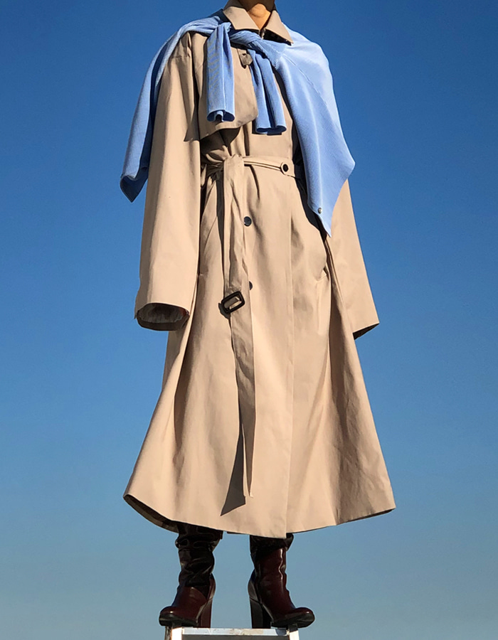 UNISEX MAXIMAL SILHOUETTE TRENCH COAT (2 COLOR)