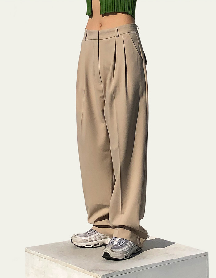 STITCH POCKET WIDE PANTS (2 COLOR)