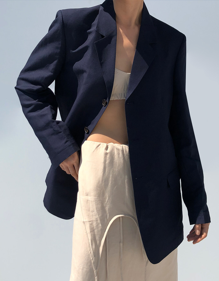 UNISEX LINEN SINGLE JACKET (3 COLOR)