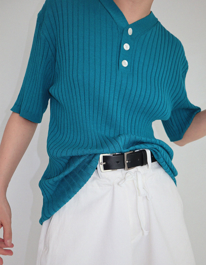 UNISEX 3 BUTTON KNIT (3 COLOR)