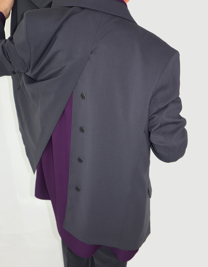 UNISEX BACK SLIT DETAIL JACKET (2 COLOR)