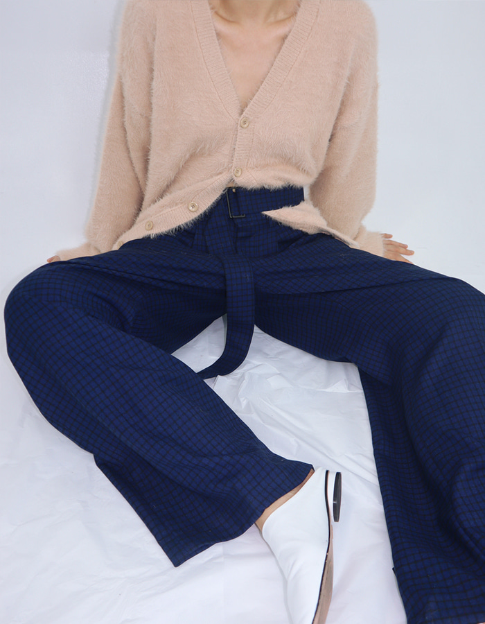 UNISEX F/W WIDE BELT SLACKS (2 COLOR)
