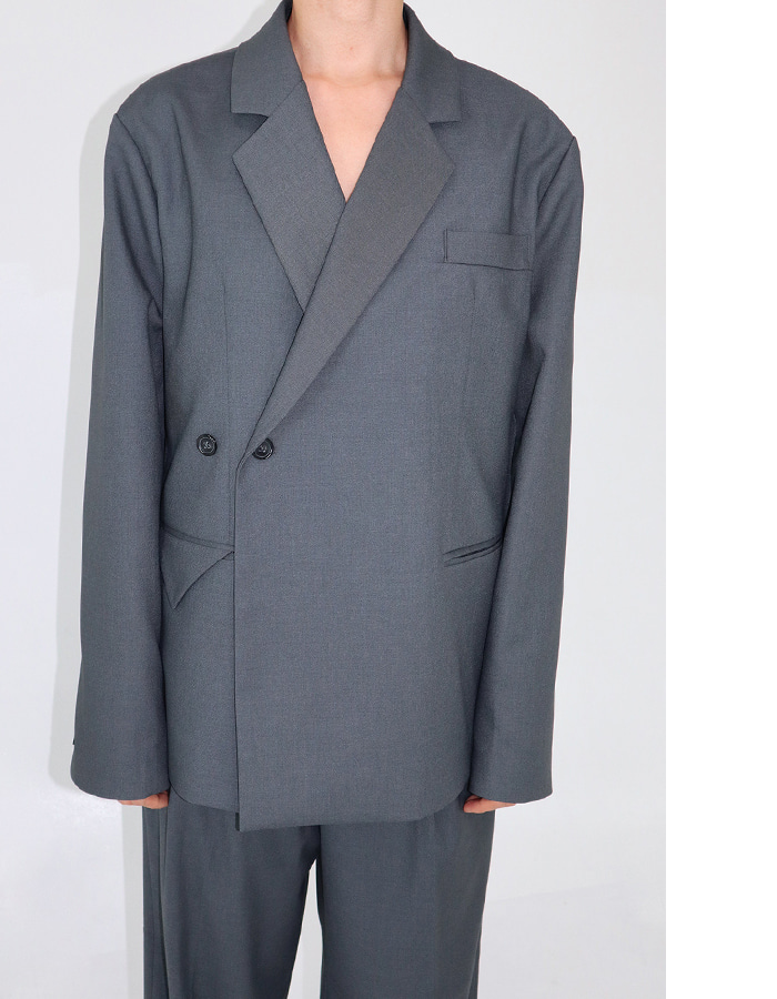 Unisex 2 Button Double Jacket (2 color)