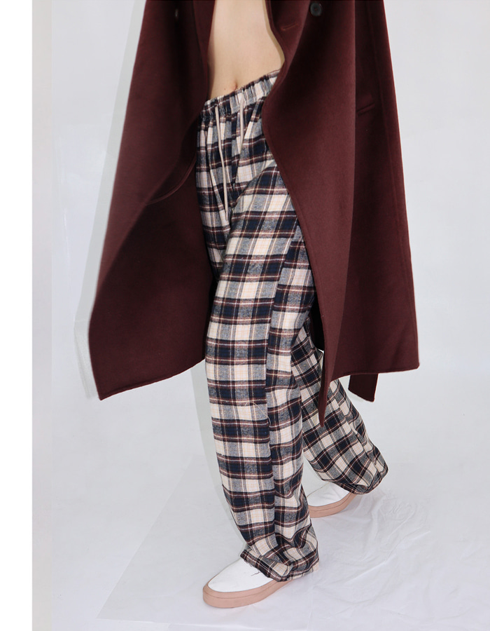 UNISEX MAXI CHECK BANDING PANTS (4 COLOR) ** Re-order 1/22~