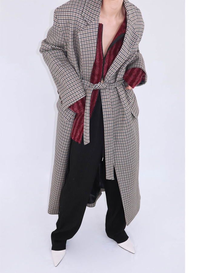 Unisex belt robe coat (2 color)