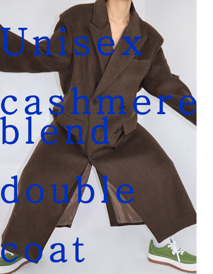 Unisex cashmere blend double coat (2 color)