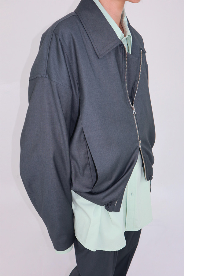 Unisex zip up blouson (2 color)