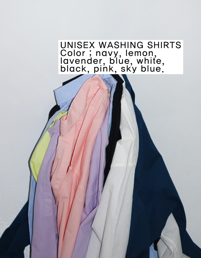 Unisex washing cotton shirts (8 color)