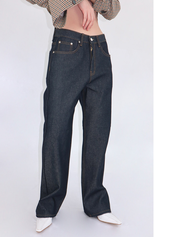 Unisex Raw denim pants
