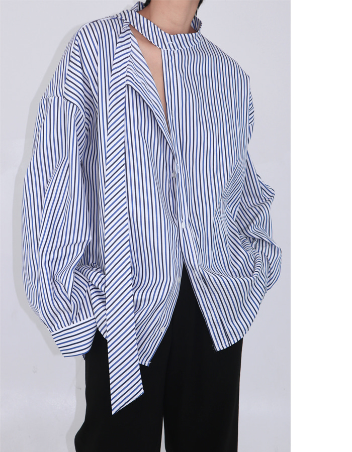 Unisex stripe tie shirts (Blue)