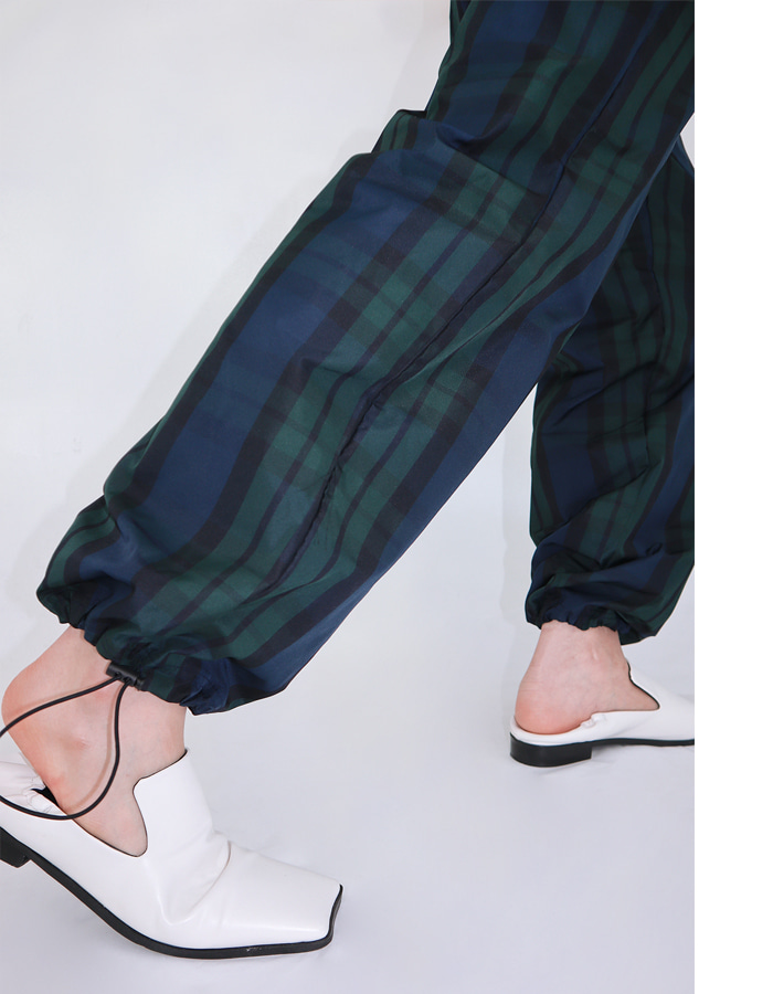 Unisex check nylon pants (2 color)