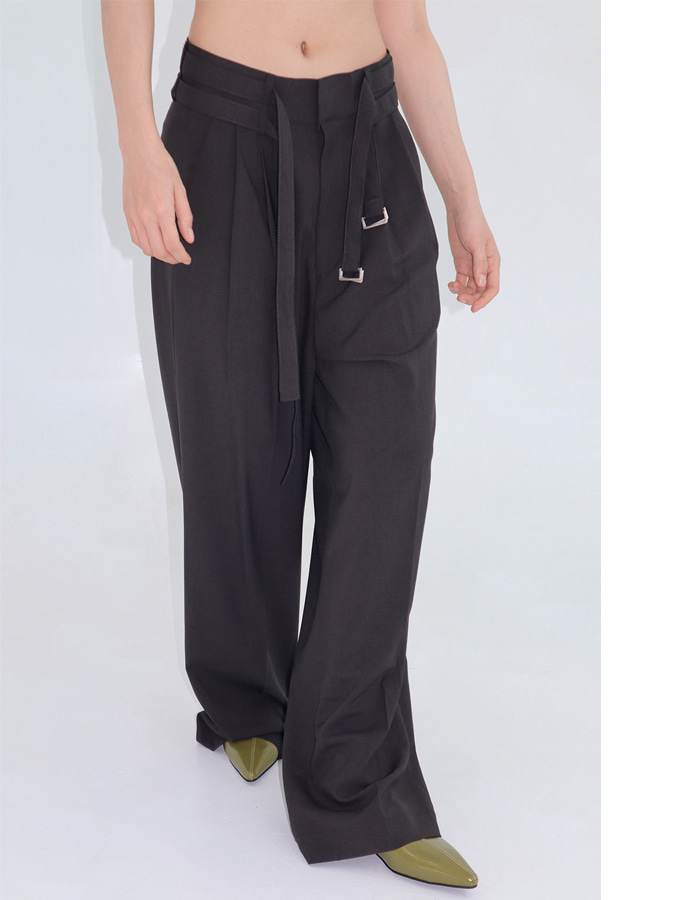 Unisex Double Belt Slacks (3 Color)