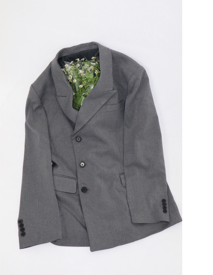 Unisex Peaked Lapel Double Jacket (2 color)