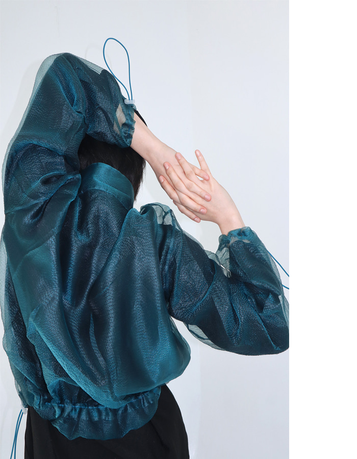 Unisex See-though Blouson (3 Color)