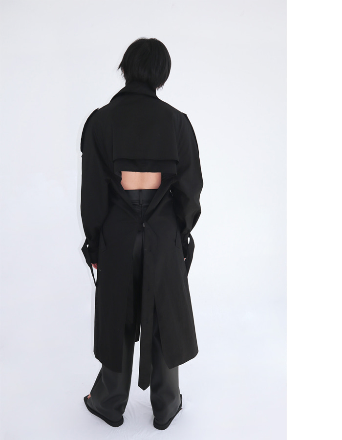 Unisex Backless Trench Coat (3 Color)