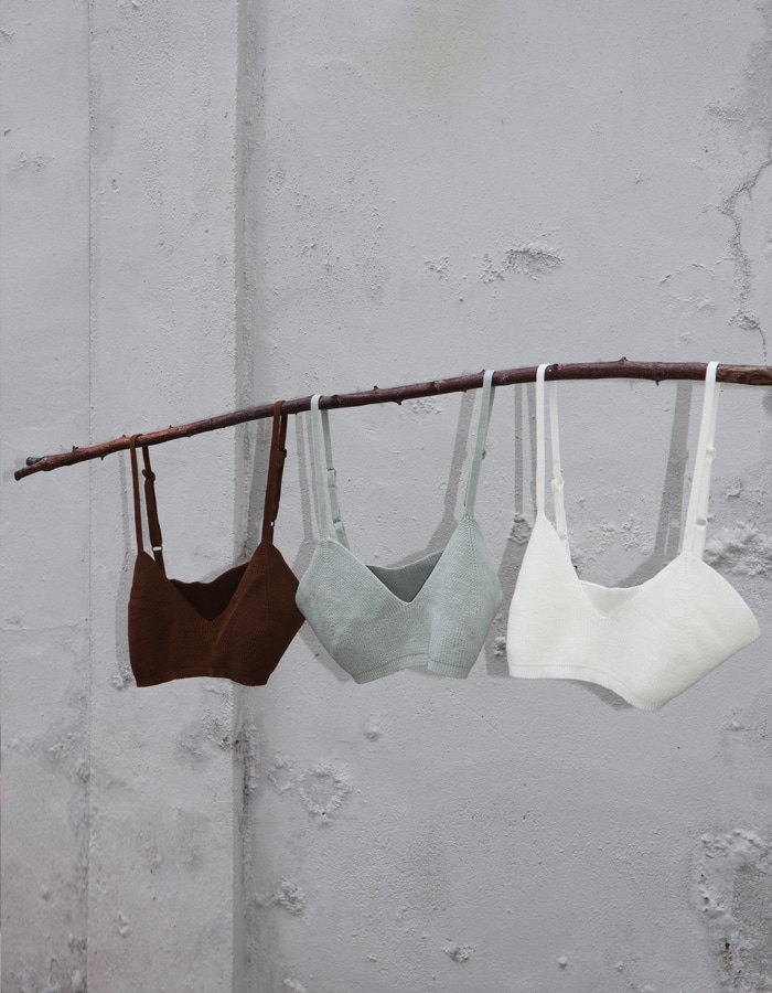Knit Bra (3 Color)